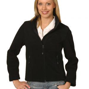 ladies bonded P/F full zip jacket