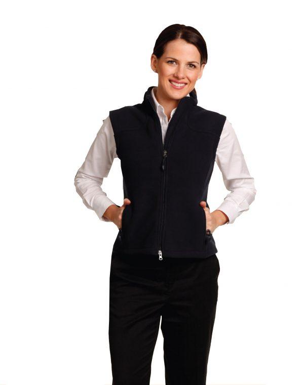 Ladies' bonded polar fleece vest