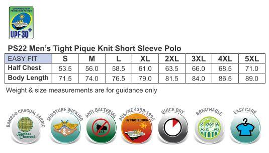 mens tight pique knit S/S polo