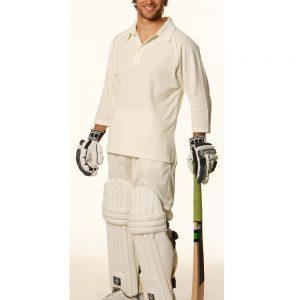 Mens 3/4 sleeve cricket polo