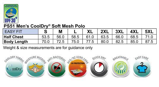 Mens CoolDry Soft Mesh Polo
