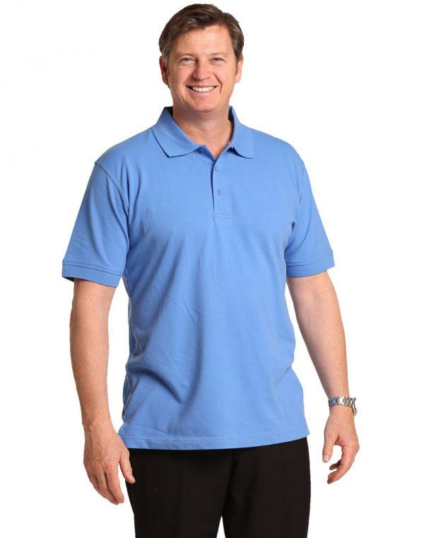 Men's cotton stretch polo