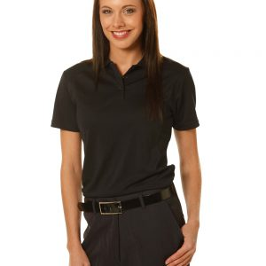 ladies bamboo charcoal S/S Polo