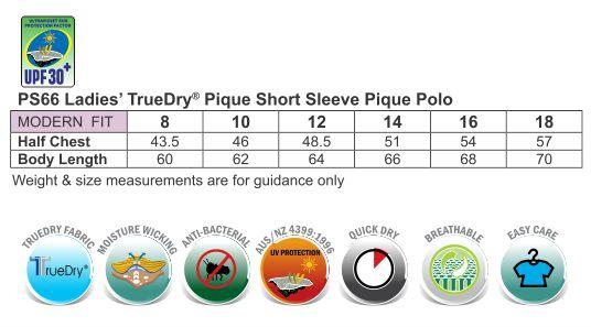 Ladies' Truedry Contrast S/S Polo
