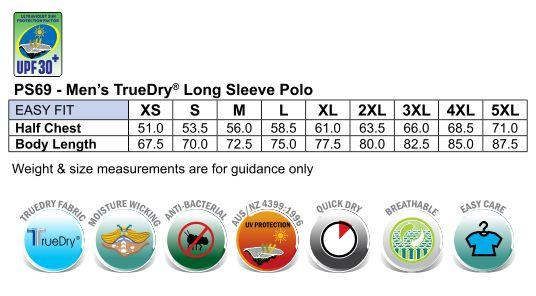Men's TrueDry Long Sleeve Polo