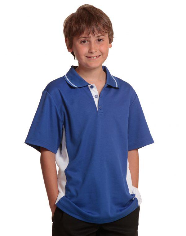 Kids' TrueDry Contrast S/S Polo