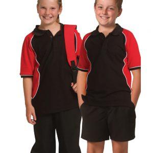 Kids' TrueDry Tri-colour S/S Pique Polo