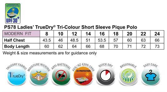 Ladies' TrueDry Tri-colour S/S Pique Polo