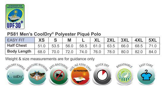 Men's Cooldry Pique Soild Colour S/S Polo