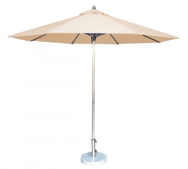 2.7m Tuscany Polished Market Umbrella, Acrylic Canvas cover