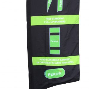 Medium Premium Pongee Feather Banner - Single Sided Combo