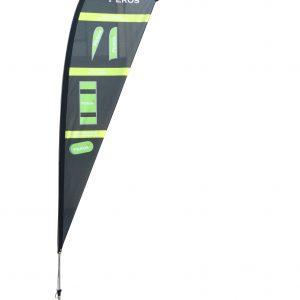 Medium Premium Polyester Mesh Teardrop Banner - Single Sided Combo