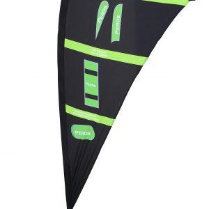 Medium Premium Pongee Teardrop Banner - Double Sided Combo