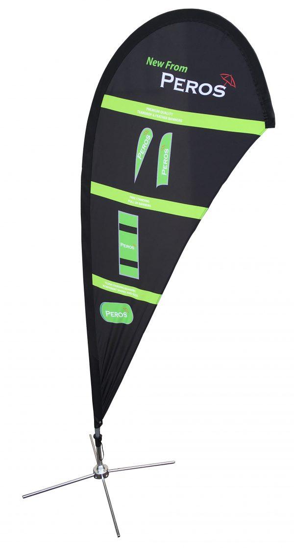 Medium Premium Polyester Silk Teardrop Banner - Double Sided Combo