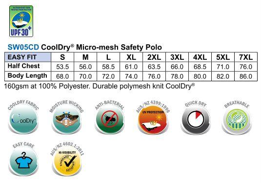Hi-Vis cooldry safety polo L/S