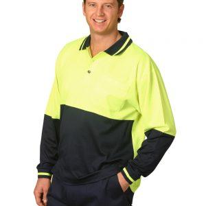 Hi-Vis truedry safety polo L/S