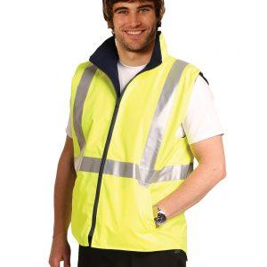 Hi-Vis Reversible Safety Vest With Hoop Pattern 3M Tapes