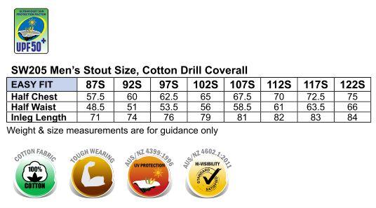 Hi-Vis Two Tone Men's Cotton Drill Coverall-Stout