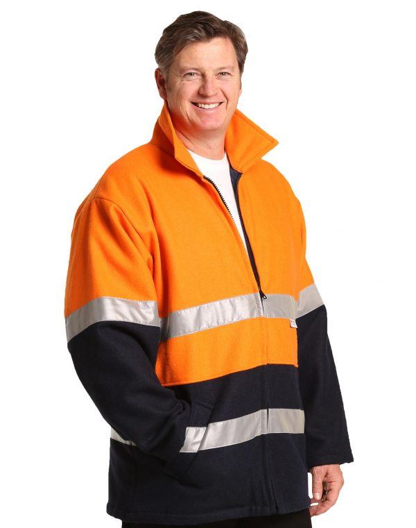 Hi-Vis Two Tone Bluey Safety Jacket with 3M Tapes