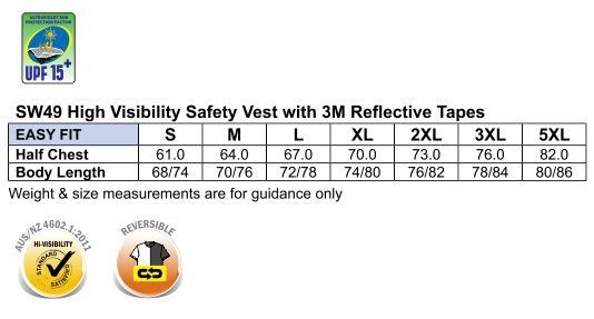 Hi-Vis Reversible Mandarine Collar Safety Vest With 3M Tapes