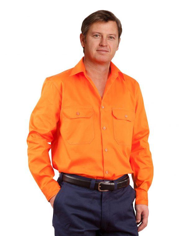 Men's Hi-Vis L/S Drill Shirt
