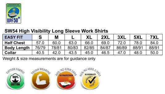 Hi-Vis cotton drill shirt L/S