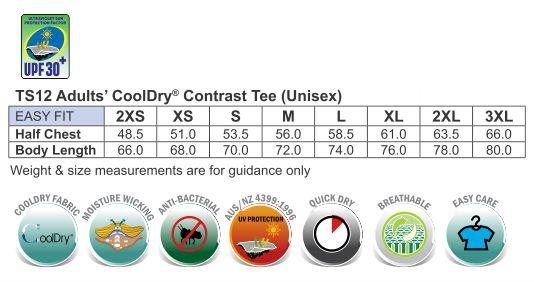 CoolDry short sleeve contrast tee