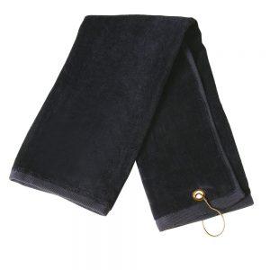Golf towel eyelet hook 38 x 65 cm
