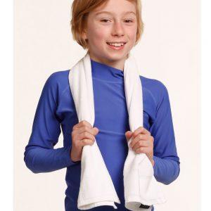 terry velour fitness towel 110x30 cm