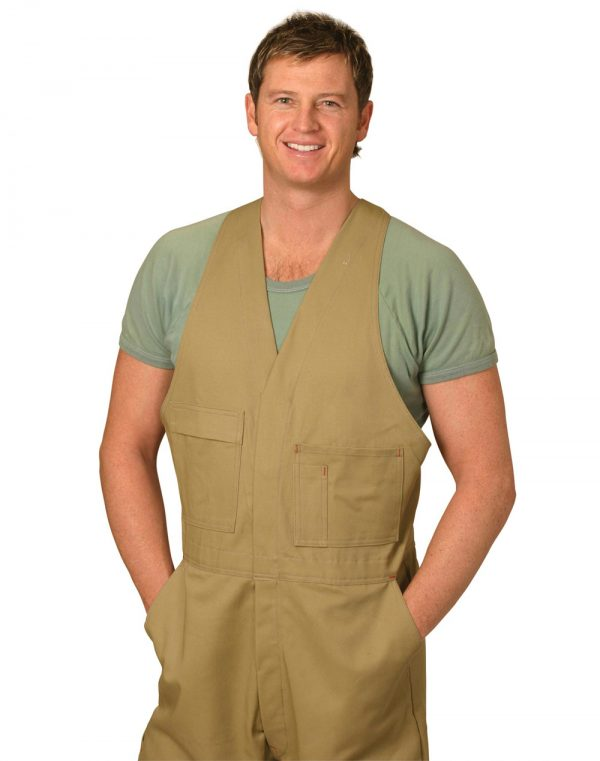 Men's Cotton Drill Action Back Overall-Stout