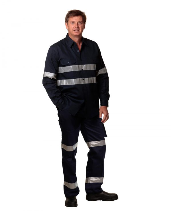Drill pant pocket on leg with 3M Tapes