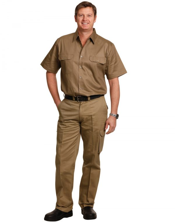 drill pant pockets on leg / stout fit