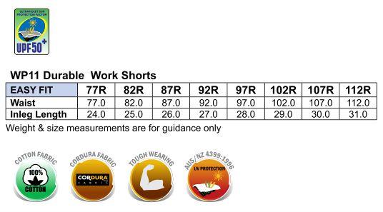 Heavy Duck Weave Dura-Wear Work Short