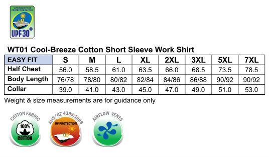 cool-breeze S/S cotton work shirt