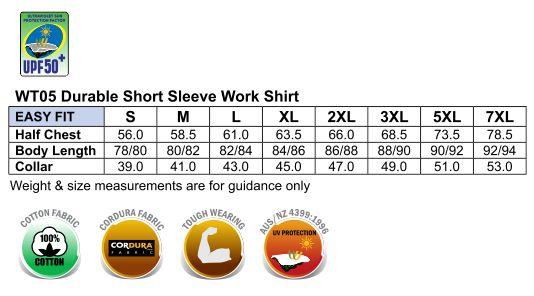 Fine Duck Weave Dura-Wear Short Sleeve Work Shirt